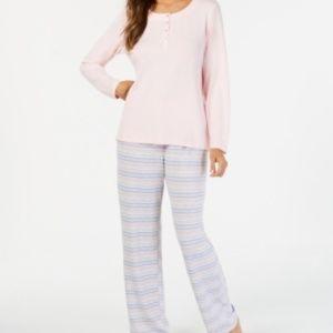 Charter Club Soft Knit Pajama Set XS X-SMALL Pink